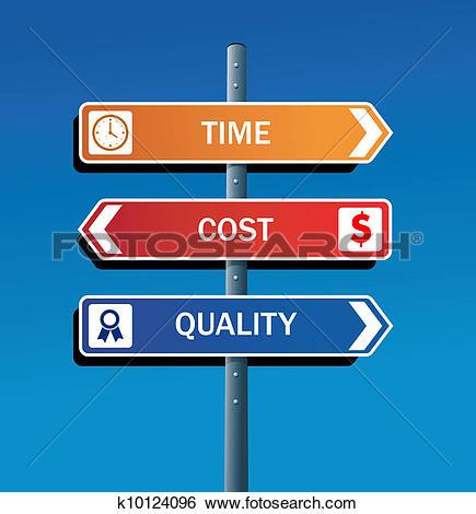 Clip Art of Productivity road post k10124096.