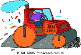 Road roller Clip Art Illustrations. 910 road roller clipart EPS.