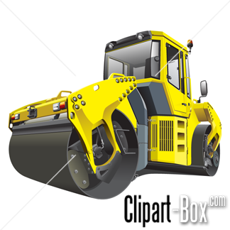 CLIPART DOUBLE ROAD ROLLER.