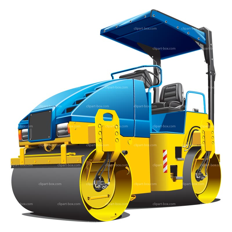 CLIPART ROAD ROLLER.
