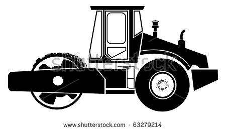 Road Roller Stock Vector Illustration 63279214 : Shutterstock.