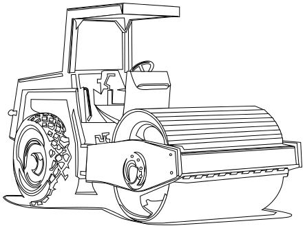 Road roller clipart.