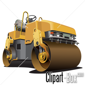 CLIPART SMALL ROAD ROLLER.