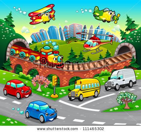 Cartoon Car Stock Images, Royalty.