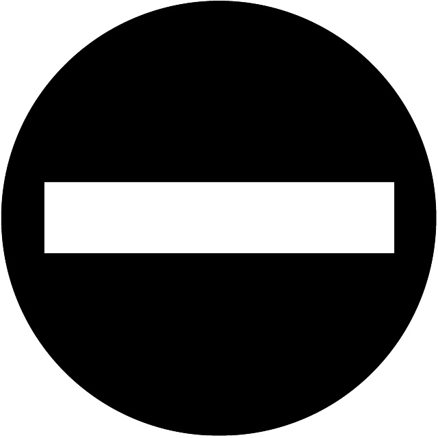 No entry vector road sign.