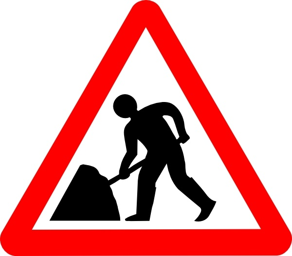 Svg Road Signs clip art Free vector in Open office drawing.