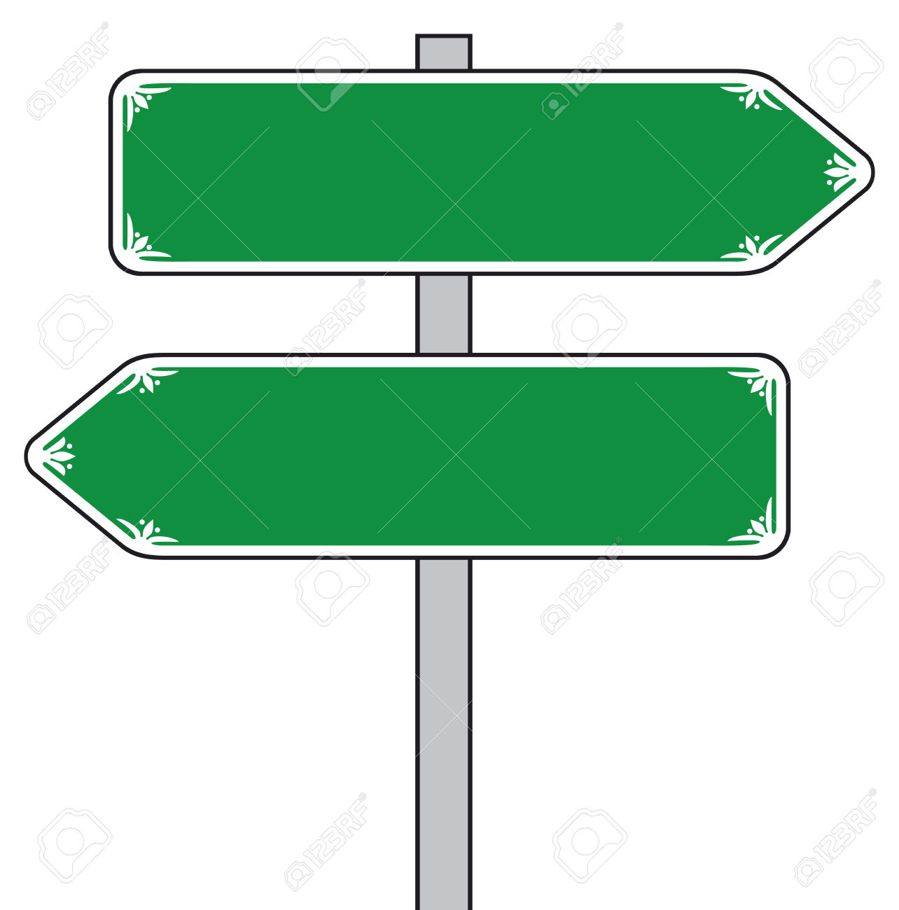 Sign Direction (street Sign, Road Sign) Royalty Free Cliparts.