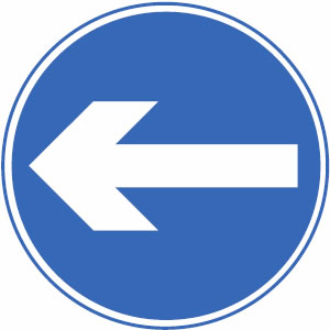 Blue Road Signs.