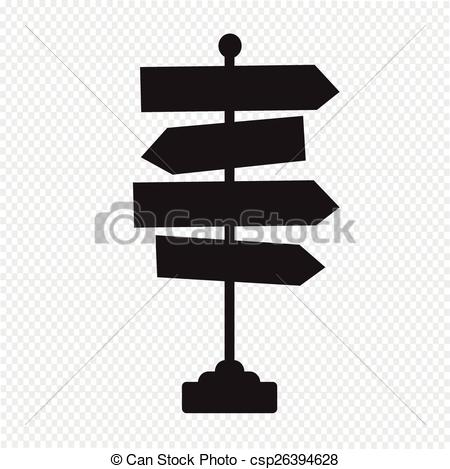 Vector Clip Art of Road sign direction arrow collection each.
