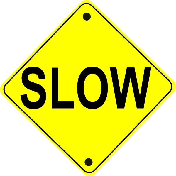 Slow Road Sign clip art Free vector in Open office drawing.
