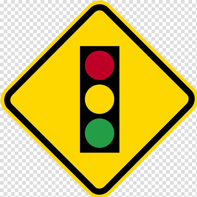 Traffic sign Warning sign Road, traffic light transparent.