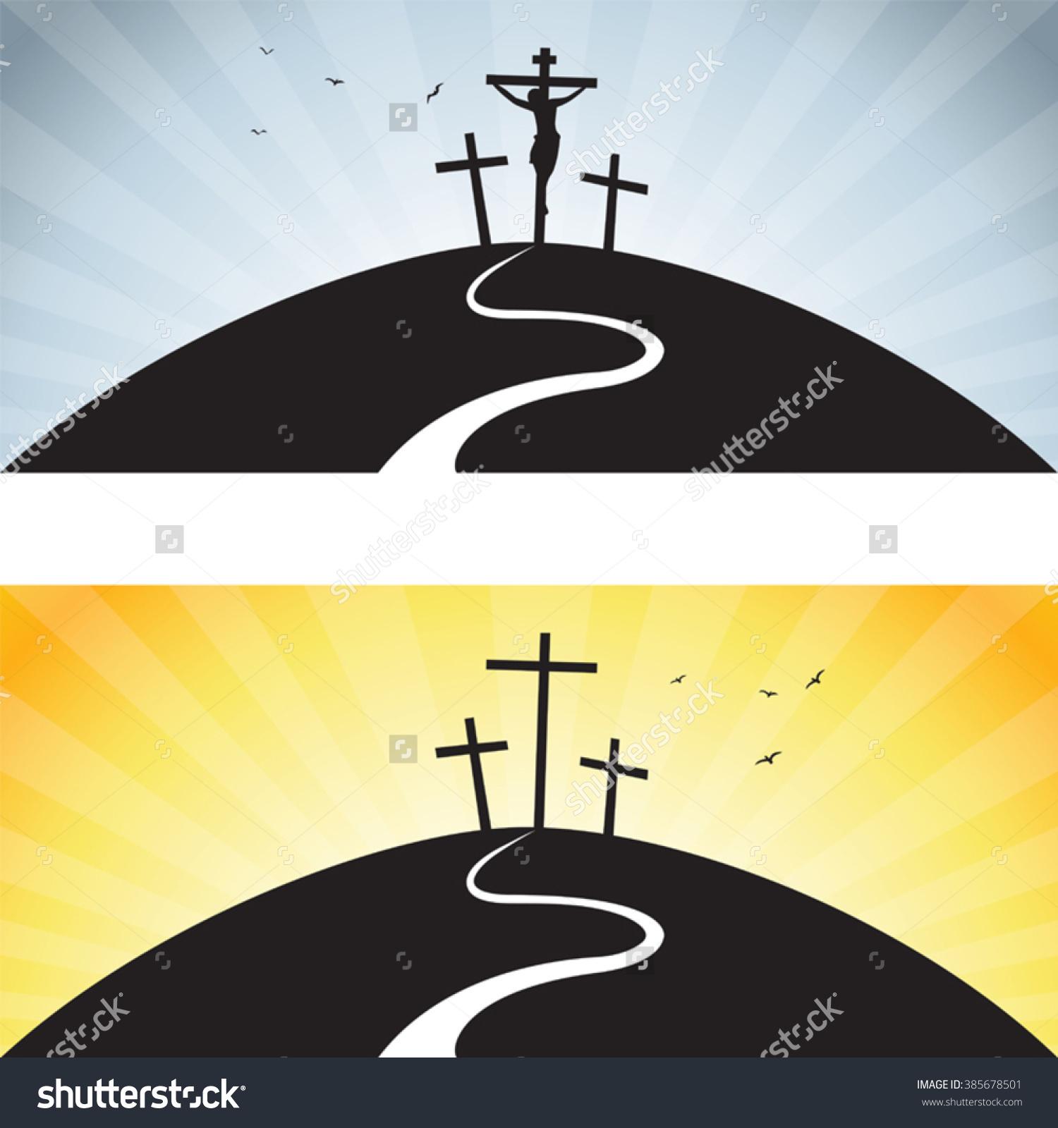 Road Calvary Vector Illustration Jesus Christs Stock Vector.