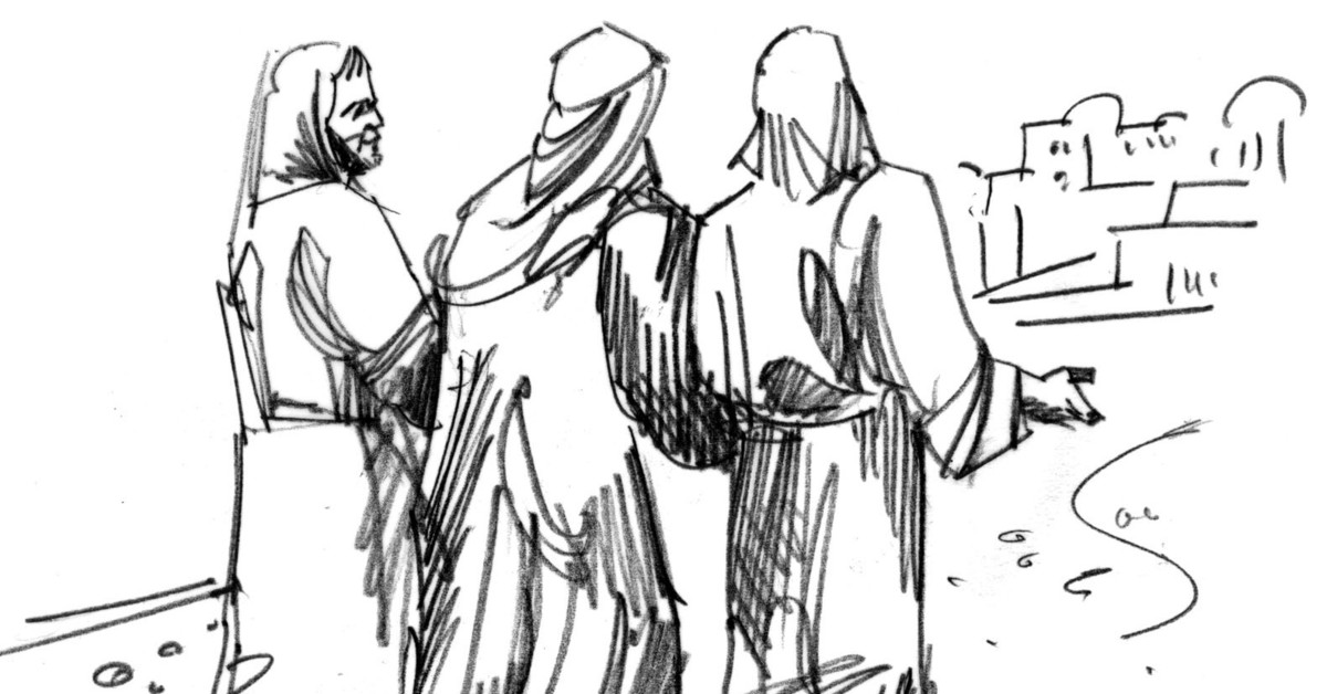 Road to emmaus clipart 4 » Clipart Station.