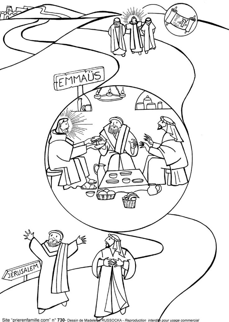 Free Road To Emmaus Coloring Page, Download Free Clip Art.