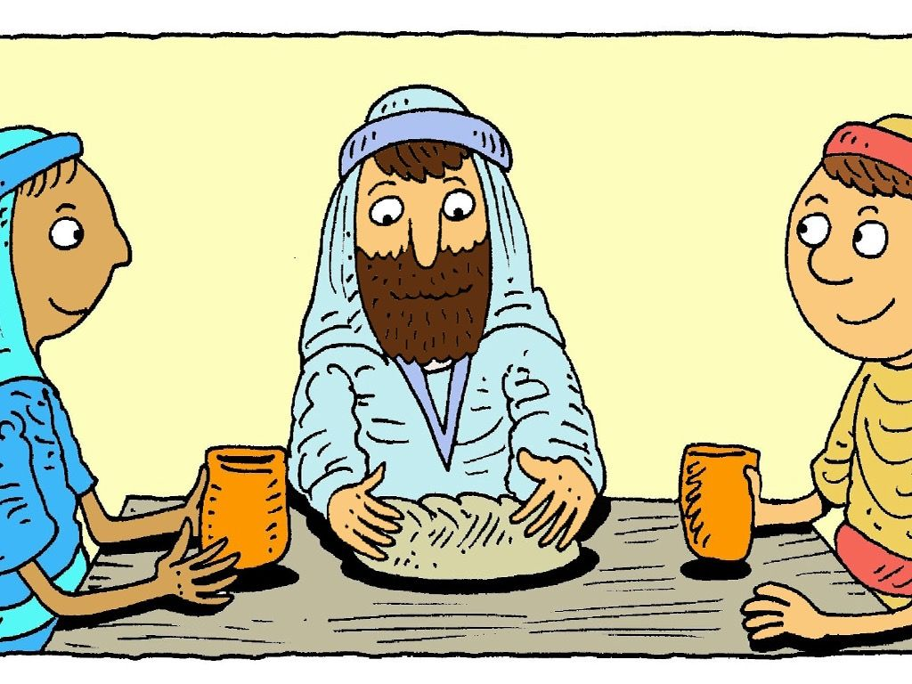 FreeBibleimages :: On the road to Emmaus :: Jesus appears to.