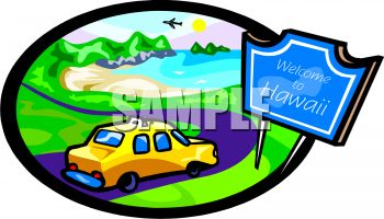 Royalty Free Clipart Image: Welcome to Hawaii.
