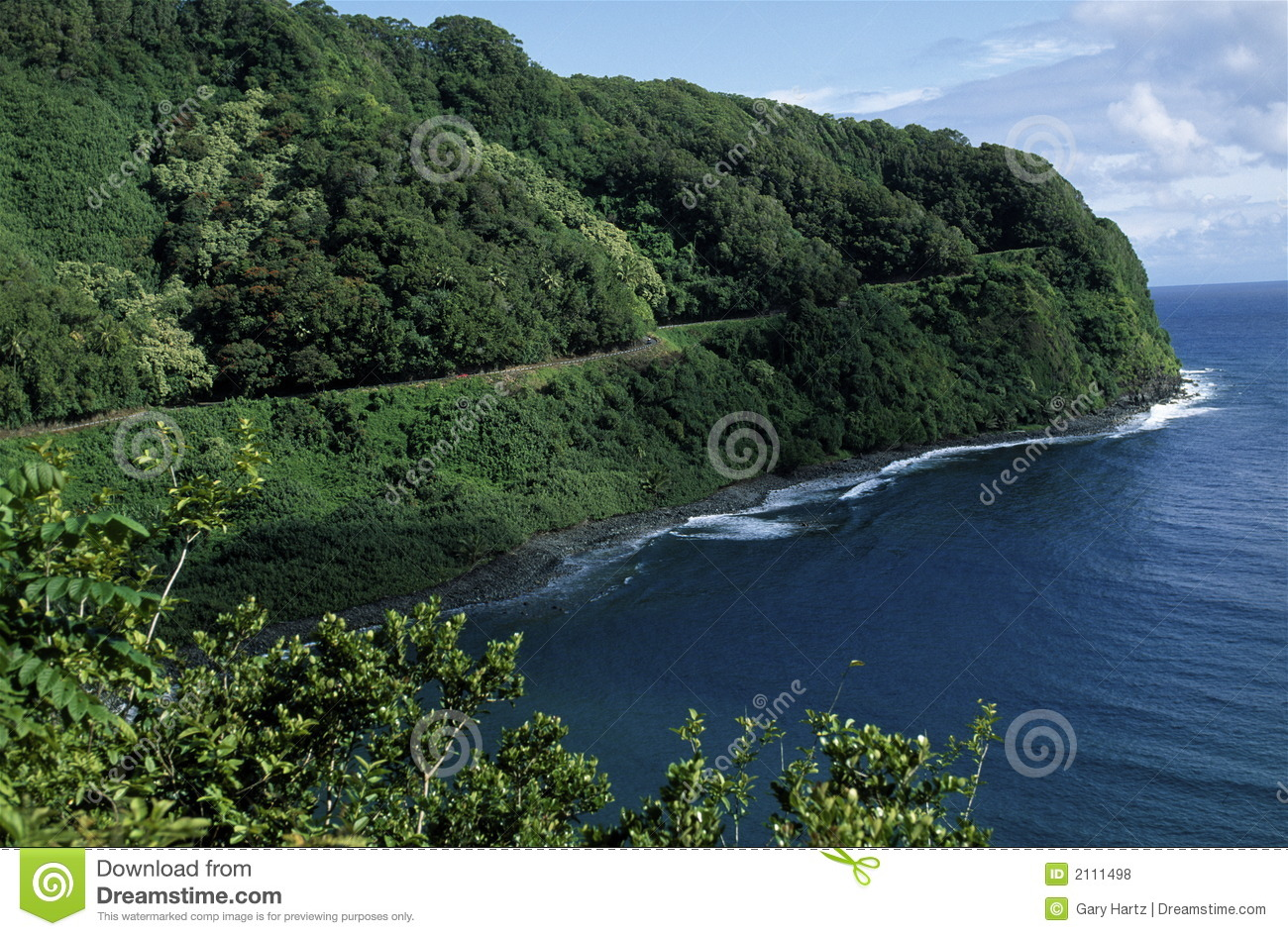 Road To Hana, Maui Hawaii Royalty Free Stock Photos.