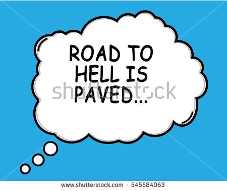 Road To Hell Stock Images, Royalty.