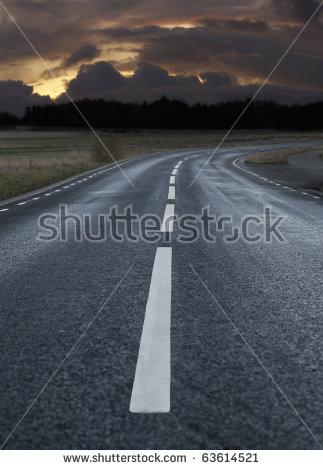 Asphalt Road Stock Images, Royalty.