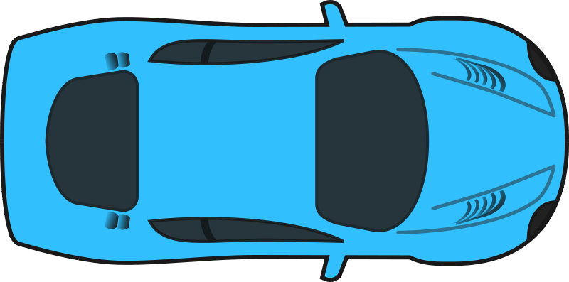 Race Car Top Down Clipart.