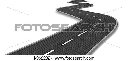 Clip Art of Curved road. Vector k9522827.