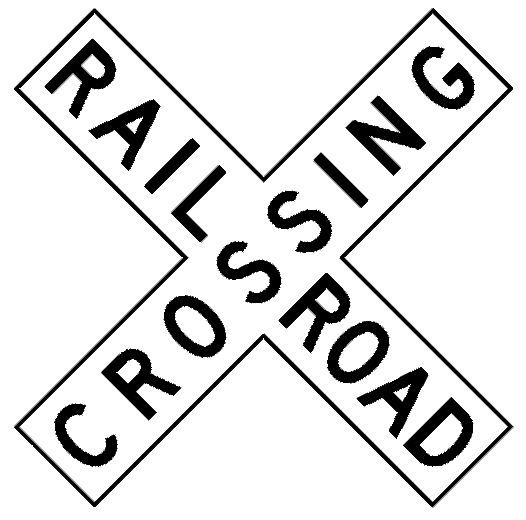 Train Road Signs Clip Art.