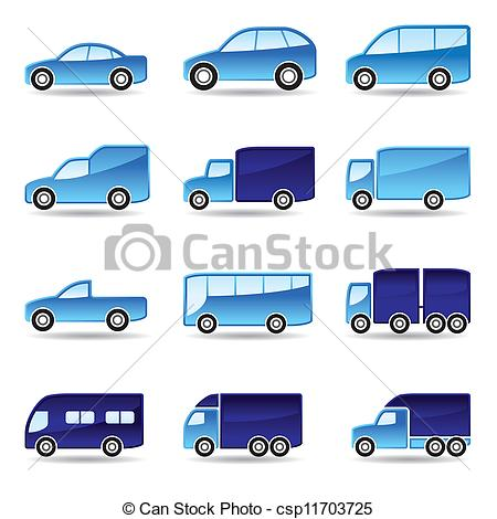 Vector Illustration of Road transport icon set.