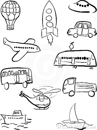 Road Transport Clipart Black And White.