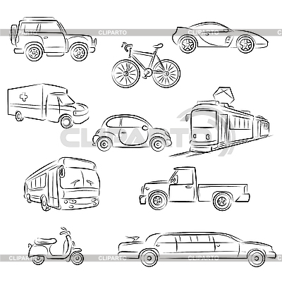 Road transport clipart.