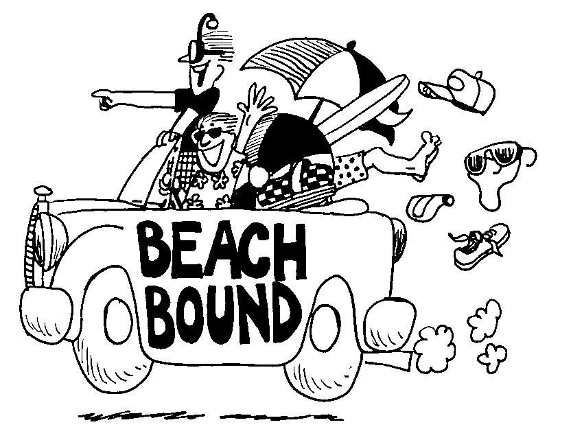 Road Trip To Beach Clipart Clipground