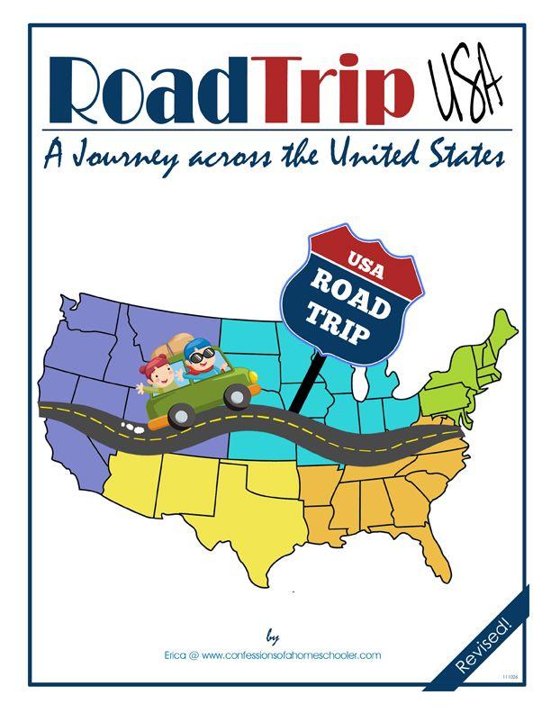 Road Trip Map Clip Art