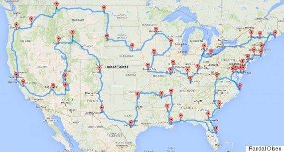 One Guy Figured Out How To Plan The Best Road Trip Ever.