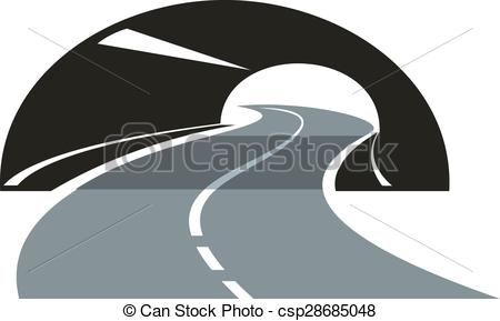 Highway tunnel Clipart Vector Graphics. 202 Highway tunnel EPS.