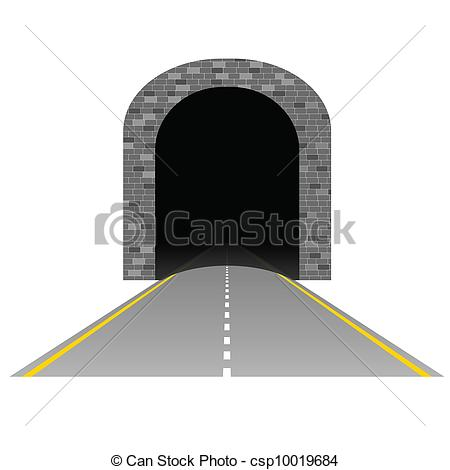 Vector of tunnel with road illustration two on white csp10019684.