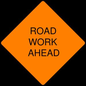 Road Work Ahead Sign Clip Art at Clker.com.