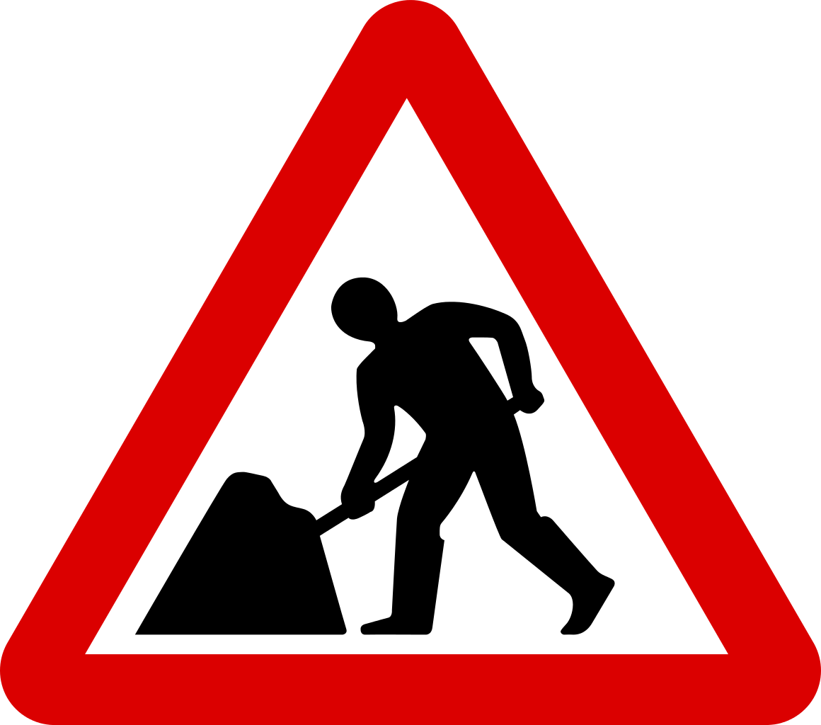 Road Work Signs.