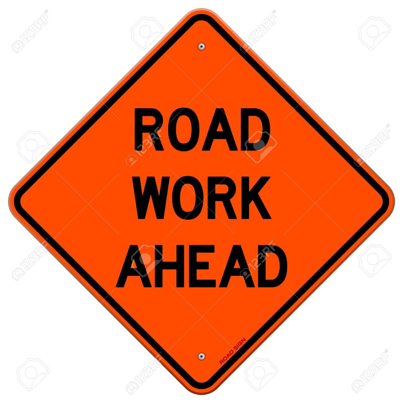 Road Work Ahead Sign Royalty Free Cliparts, Vectors, And Stock.