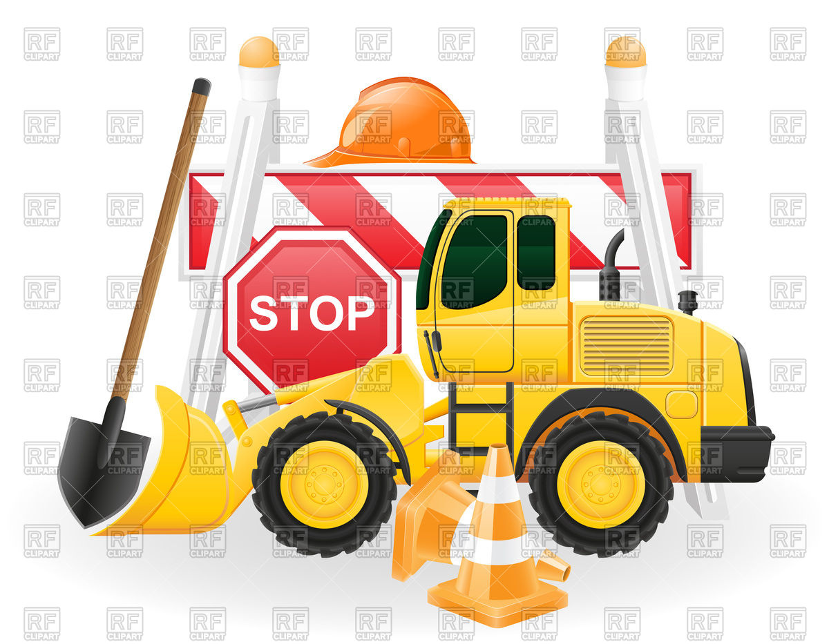 Road works concept icons Vector Image #97173.