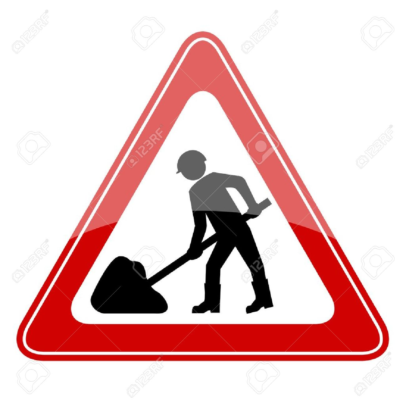 Vector Road Works Sign Royalty Free Cliparts, Vectors, And Stock.