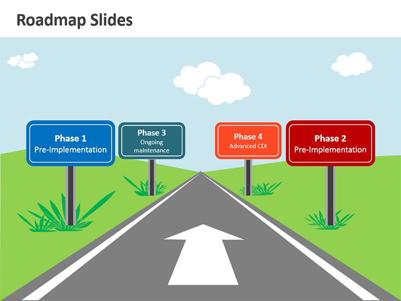Road map clip art.