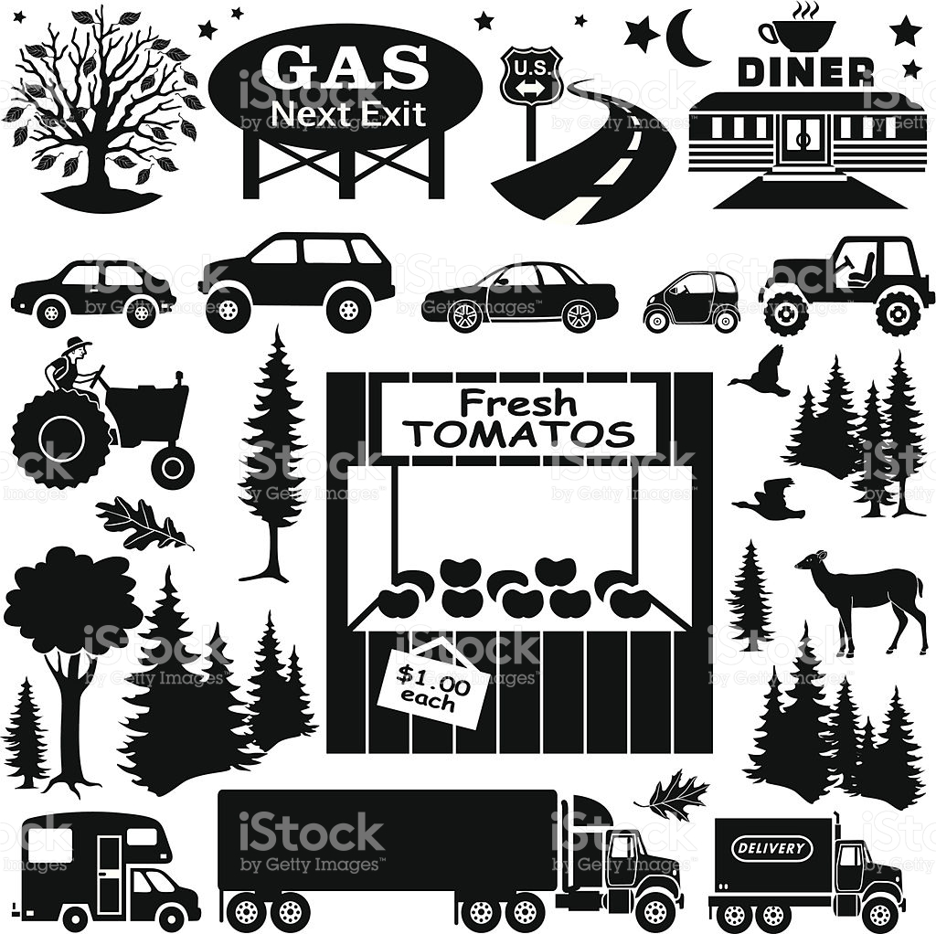 Roadside Farm Stand Design Elements stock vector art 494960945.