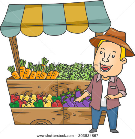 Vegetable Stand Stock Images, Royalty.