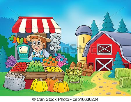 Farm Stand Clipart.