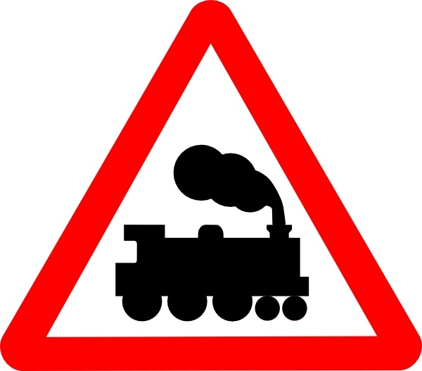 Train Road Signs clip art Free vector in Open office drawing svg.