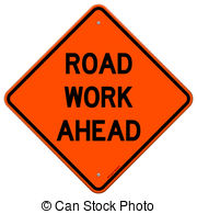 Road works ahead Clipart Vector Graphics. 147 Road works ahead EPS.