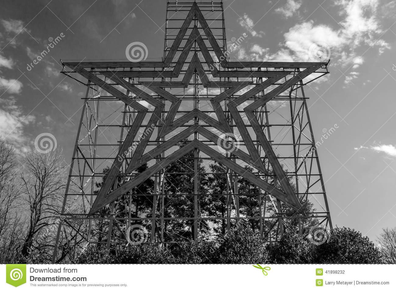 Historic Roanoke Star Overlook Editorial Photography.