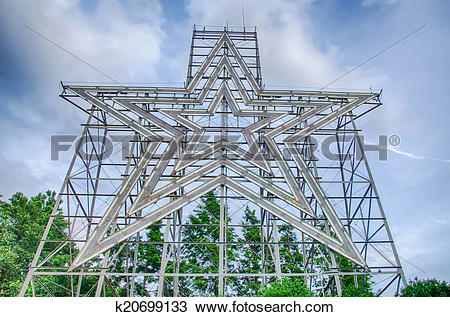 Stock Photo of big star of a star city roanoke virginia k20699133.