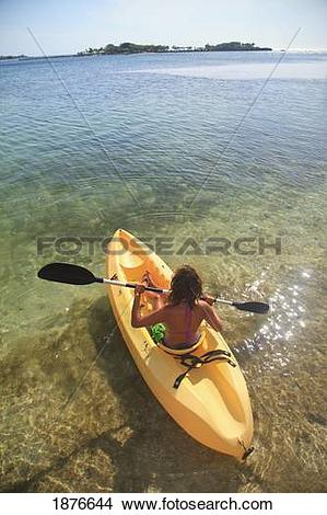 Stock Photo of Roatan, Bay Islands, Honduras; A Young Woman.
