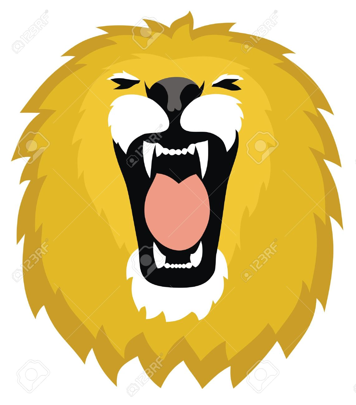 Lion roar clipart.