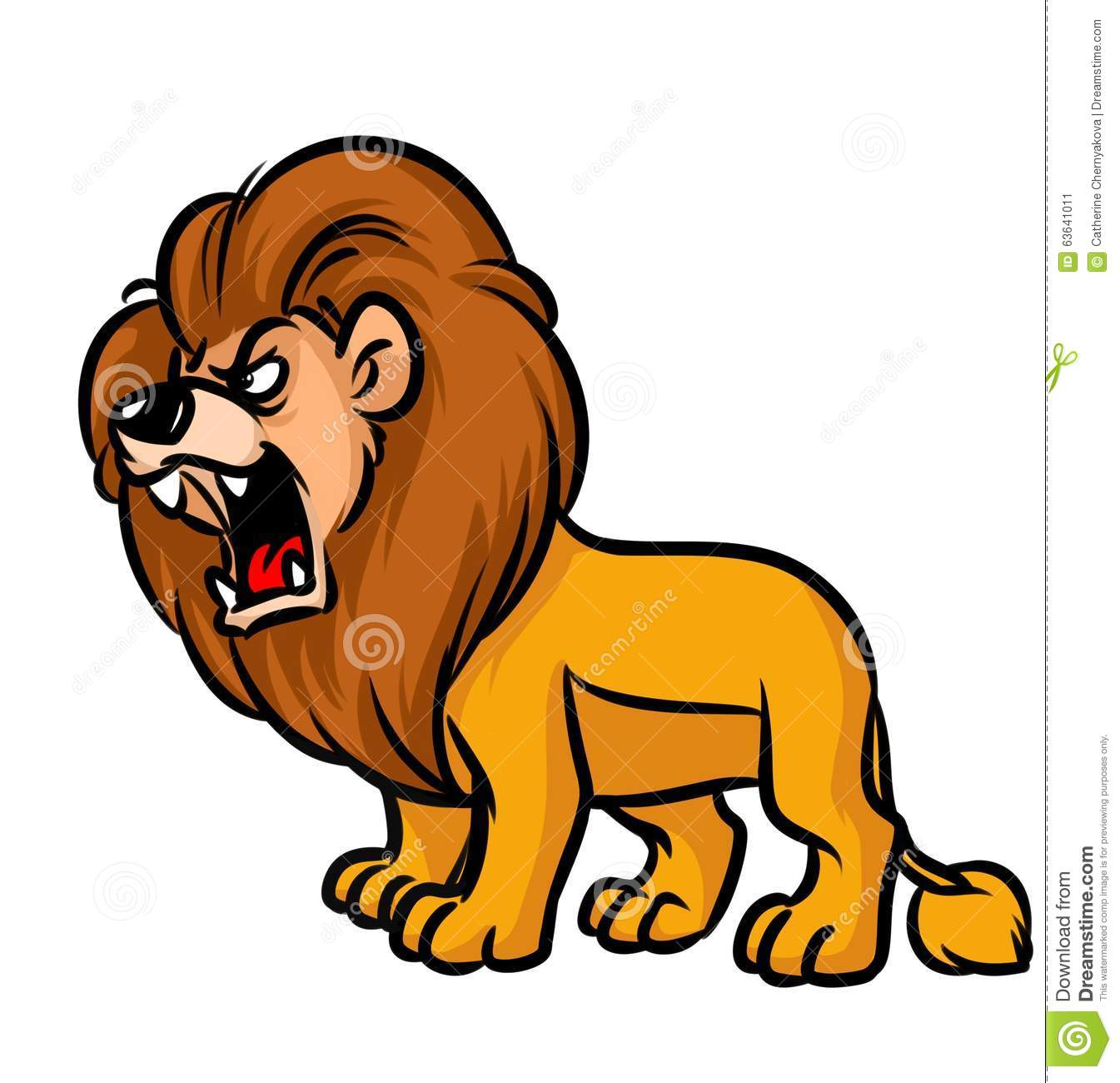 Animal roar clipart.